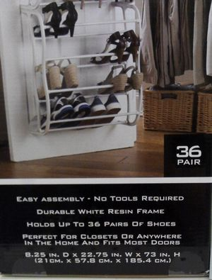Hanging Shoe Rack Over the door 36 Pair Closet Space Saver Organizer for Sale in Puyallup, WA