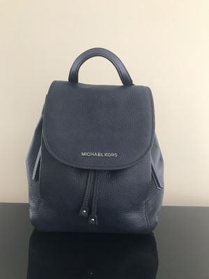 Michael Kors Navy leather Backpack Brand New for Sale in Vienna, VA