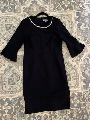 Shelby & Palmer Professional Black Dress with Pearl Necklace - Size 14 for Sale in Spring, TX