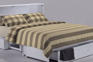 """Brand New Queen Size Murphy Cabinet Bed With Mattress Please Mention Promo Code """"White"""" See Description For Details. for Sale in Vancouver,  WA"""