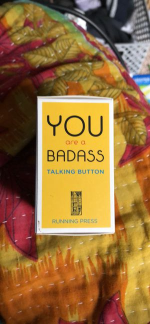 YOU Are A BADASS Talking Button and Book for Sale in Eau Claire, WI