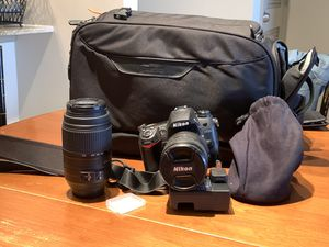 Nikon D7000 with high end lenses filters and bag for Sale in Atlanta, GA