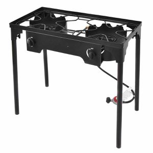Goplus Double Burner Gas Propane Cooker Outdoor Camping Picnic Stove Stand BBQ Grill for Sale in San Dimas, CA