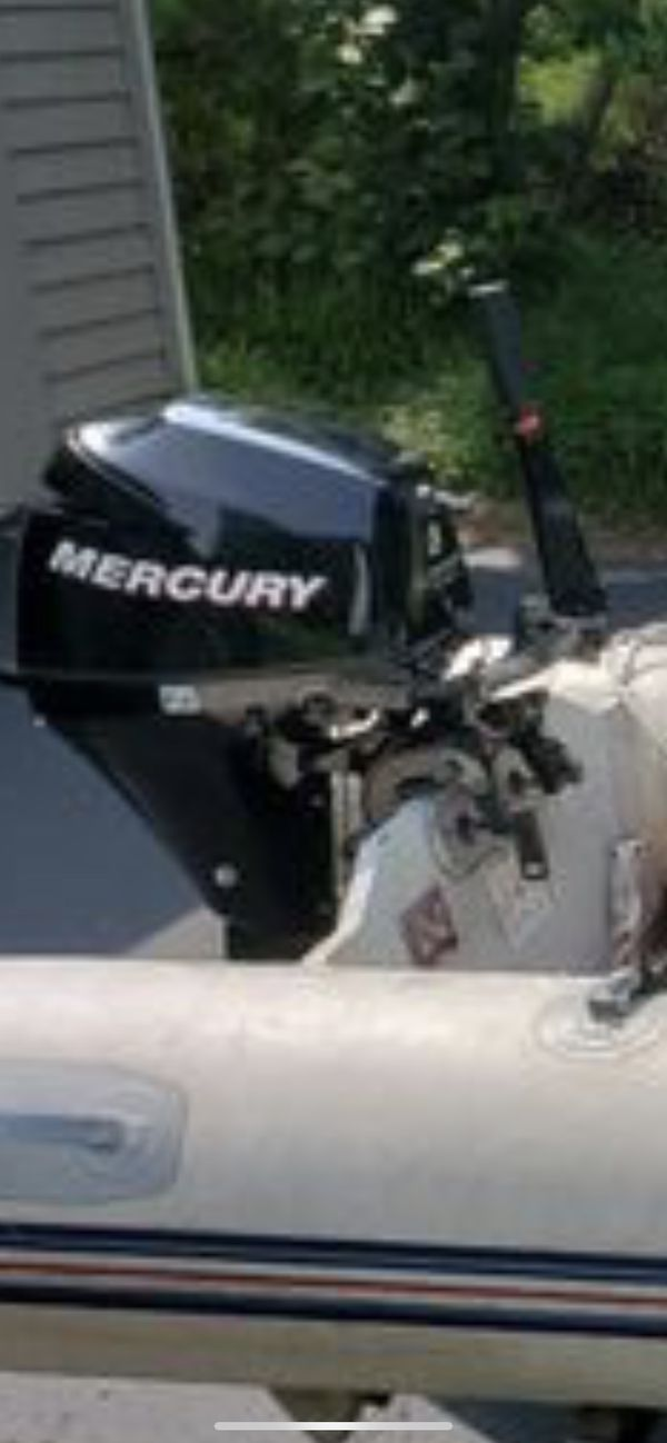 9.9 hp outboard and 10ft merc dinghy inflatable boat