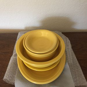 Fiesta Dishes I have 12 complete sets of the yellow dishes for Sale in Clearwater, FL