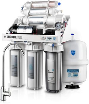 Ukoke RO75GP 6 Stages Reverse Osmosis Water Filtration System, Under Sink pH+ Alkaline Remineralizing RO filter & Softener, NSF/ANSI 58 & IAPMO Platin for Sale in Tinley Park, IL