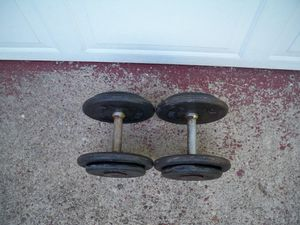 Dumbbells (70 Pounds) - Set of 35's - Pro Style!! for Sale in Delmont, PA