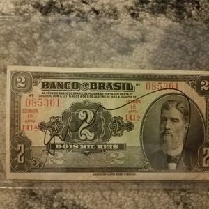 BANKNOTE BRAZIL. 2 MIL REIS YEAR 1923 for Sale in Chicago, IL