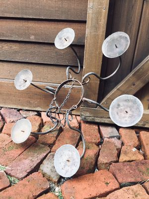 Rustic Iron Candle Chandelier for Sale in Snoqualmie, WA