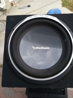 Rockford Fosgate P3 sub and box for Sale in Industry, CA