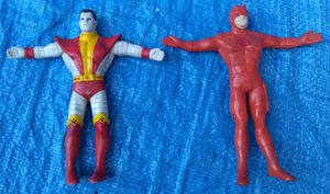 1991 Justoys Marvel Bendable Action Figure Lot Colossus & Daredevil Vintage Collectible for Sale in Pasadena, CA