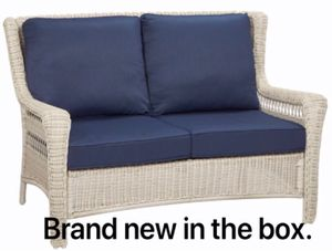 Brand new patio furniture love seat in the box. Save over $100. (Tempe) for Sale in Tempe, AZ