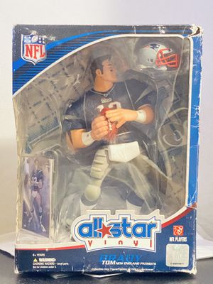 NFL Tom Brady All Star 9 Inch Vinyl Figure New England Patriots Action Figure with Toy Football and Trading Card Upper Deck Collectible for Sale in Los Angeles, CA