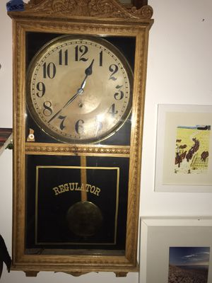 1920's WIlliam Gilbert antique school house clock. ( school house location Iowa ) for Sale in Scottsdale, AZ