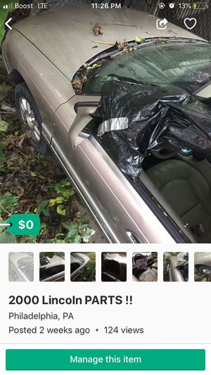 PARTS ONLY NOT SELLING WHOLE CAR!! for Sale in Philadelphia, PA