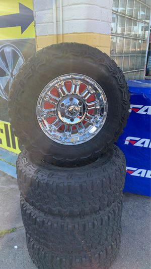 (4) Great Condition ♨️XD Wheels And Tires For Sale 6x135 17x9 ♨️Muddterrain Tires2857017 for Sale in Clovis, CA