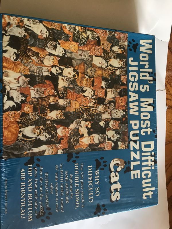 "Worlds Most Difficult Jigsaw Puzzle ""Cats"" 529 Pieces Buffalo Games New Sealed"