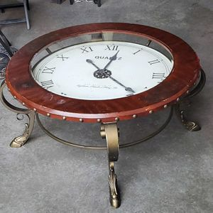 Large Glass Top Antique Vintage Clock Coffee Table for Sale in Seattle, WA