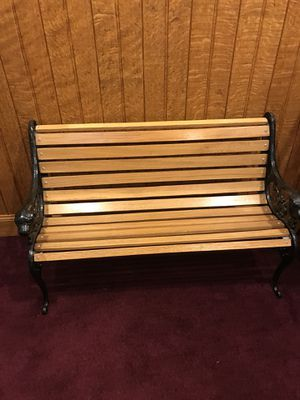 Wood/ Wrought Iron Bench for Sale in Jersey Shore, PA