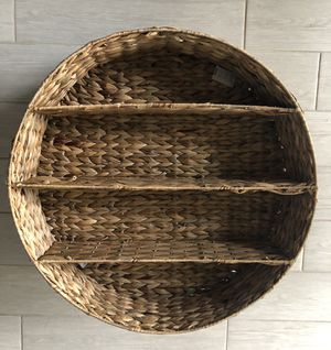 Two Woven Hyacinth Wall Shelves for Sale in Miami, FL