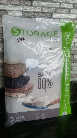 2 - vacuum storage bags (w travel pump) for Sale in Raleigh, NC