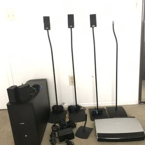 BOSE AV28 MEDIA CENTER W/speakers, Sub, Wires, And Stands for Sale in Chandler, AZ