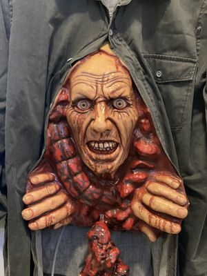 Halloween costume shirt awesome creepy very scary zombie coming out Super nice very detail for Sale in Opa-locka, FL