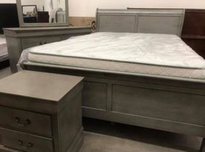 (Brand New In Boxes) Full Size Gray Sleigh Bedroom Set for Sale in College Park, GA