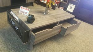 Melody Coffee Table, Distressed Grey and Black for Sale in Santa Ana, CA