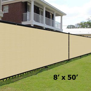 NEW 8'x50' Privacy Fence Wind Screen - BEIGE for Sale in Ontario, CA