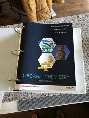 Organic Chemistry 12th edition Wiley Binder Version for Sale in San Bernardino, CA