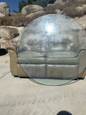 Recliner and glass table top for Sale in Goleta, CA