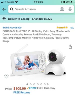 Baby Monitor with Camera and Audio, New for Sale in Chandler, AZ