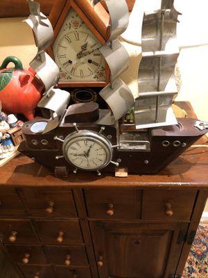 Antique Sailing Ship Clock for Sale in Suffolk, VA