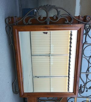 Large Wood and Iron mirror for Sale in Fresno, CA