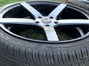 """20"""" 5/120 lug pattern rims and tires for Sale in Gardena, CA"""