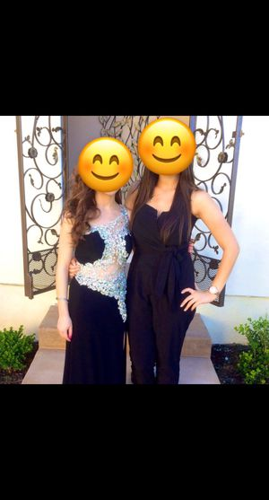 One shoulder beaded prom dress size 0 for Sale in San Diego, CA