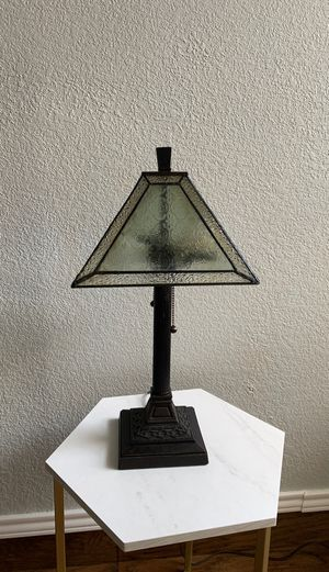 Vintage glass table lamp for Sale in Coppell, TX