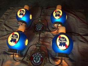 Vintage Pabst Blue Ribbon Beer chandeliers for Sale for sale  Tyrone, GA