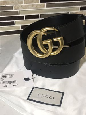 Gucci Leather Double GG Belt-Authentic for Sale in Queens, NY