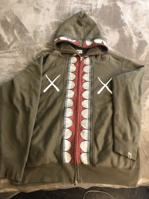 Bape x Kaws Chomper shark hoodie from 2005 for Sale in Los Angeles, CA