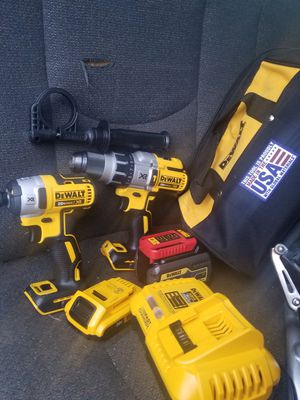 Dck299 Flex 20v dewalt hummer drill and driver brushless for Sale in Revere, MA