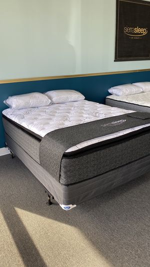 NEW Queen 16'' Foam Pillow Top Mattress Ashley Sierra Sleep ZZ for Sale in Irving, TX