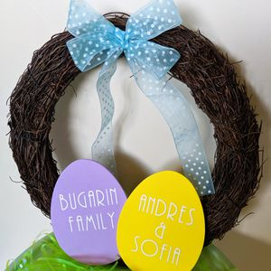 Personalized Easter wreath for Sale in San Diego, CA
