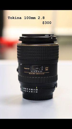 Tokina 100mm 2.8 lens for Sale in Modesto, CA
