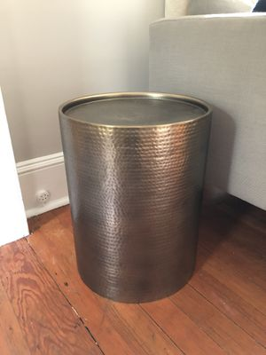 Gold Manila Cylinder Drum Accent or End Table - Project 62 for Sale in Seattle, WA