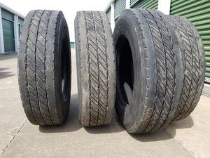 (5) 295/75 22.5 Trailer Tires for Sale in Grand Prairie, TX