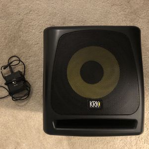 KRK 10s powered subwoofer with crossover and foot switch for Sale in Stone Ridge, VA