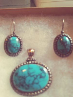 Turquoise earrings and pendant for Sale in Marysville, WA