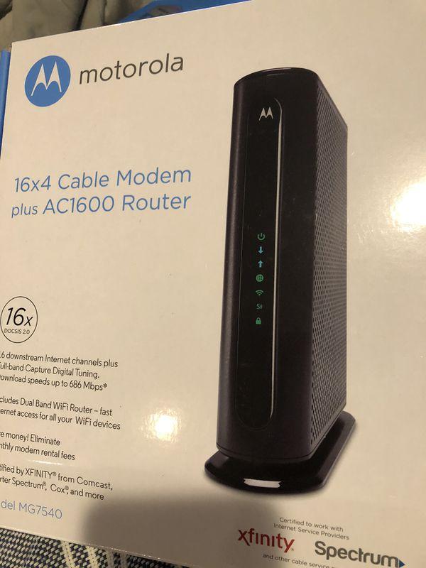 Motorola MG7540 Modem Router Combo AC1900